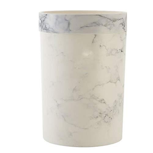 Lpiotyuljt Cubo Basura Reciclaje, Patrón de mármol de plástico de la cocina sin lidle de la basura (20.6 * 26.2 / 30cm, 23.5 * 31cm / 25.5 * 36 cm) Nordic Simple Modern Kitchen Dormitorio Basura de la