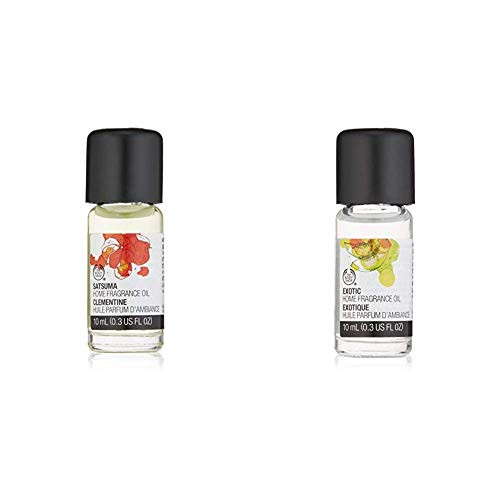 The Body Shop Home Fragrance Exotic Oil - 10ml and Satsuma Home Fragrance Oil, 0.34 Fl Oz