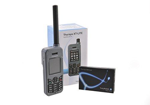 Thuraya XT Lite Teléfono Satelital con Tarjeta Nova SIM y 30 Unidades