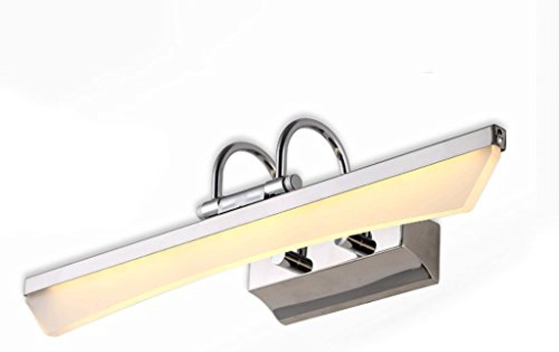 Badezimmerspiegel Licht Wasserdicht Anti Fog Wandleuchte LED Spiegel Kabinett Kosmetikspiegel Frontlampe Xin (Farbe   Warmes Licht, gre   5w 46cm)