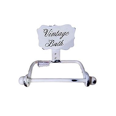 Distressed White Vintage Bath Accessories (Toilet Paper Holder)
