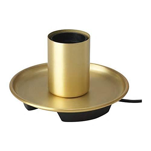 IKEA/イケア BARALUND:テーブルランプベース8cm 黄銅色 (104.411.02)