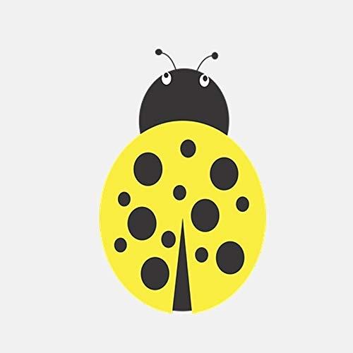 ZCZWQ 8cm * 13.1cm Dibujos Animados Creativo Amarillo Estrella Mariquita Etiqueta engomada de Coche Pegatina de Vinilo Pegatina de Equipaje Pegatina de Equipaje