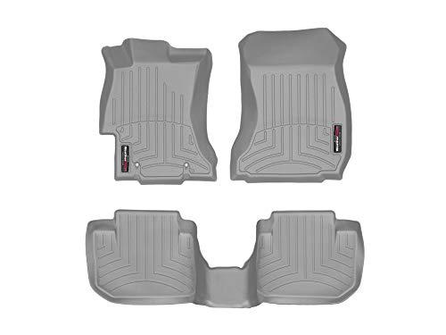 WeatherTech Passgenaue Fußmatten gummimatten passend für: Subaru XV 1°Gen 2012-17|Grau|1. und 2. Reihe FloorLiner
