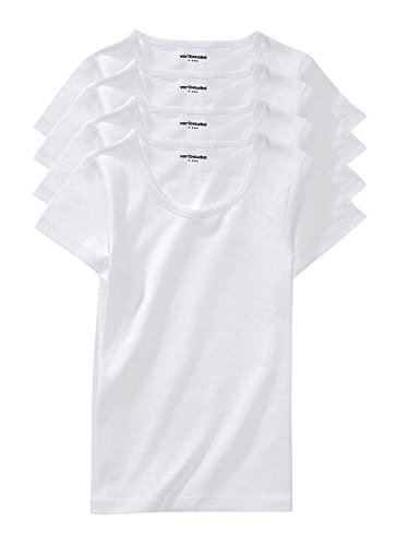 Vertbaudet Lot de 4 T-Shirts Fille Blanc 12 A
