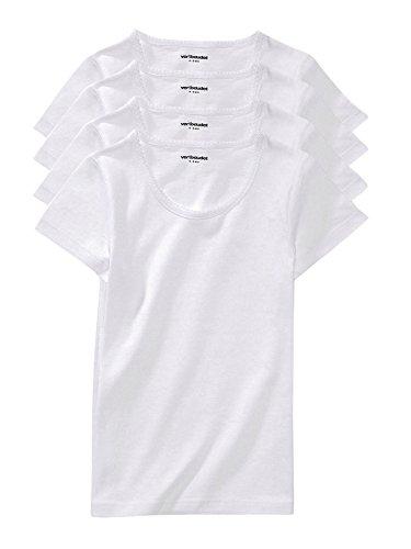 VERTBAUDET Lote de 4 Camisetas de Manga Corta niña Blanco 8A