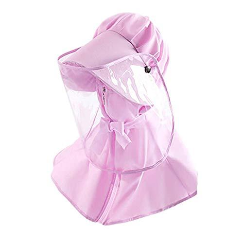 FEOYA Cappello con Visiera Trasparente Pieno Volto Protettivo Scudo Visiera Antinebbia Anti-Saliva Antipolvere Schermo Facciale per Adulti e Bambini