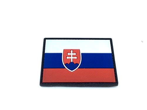 Patch Nation Slowakei Flagge Airsoft Klettverschluss PVC-Flecken