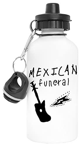 Mexican Funeral Aluminio Reutilizable Deporte Viaje Botella de Agua Blanco Aluminium Reusable Sport Travel Water Bottle White