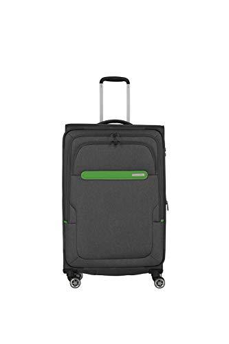 Travelite travelite: Madeira – sehr leichte Trolleys, Trolley-Taschen, Reise- und Bordtaschen plus Weekender Koffer, 77 cm, 86 Liter, Anthrazit/Grün