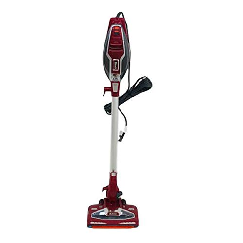 Shark Rocket with DuoClean Technology Ultra-Light Corded Stick Vacuum Cleaner HV384QR Upholstery Tool and Motorized Floor Nozzle for Bare Floor, Rug and High Pile Carpets HV384Q (Renewed) (Red)