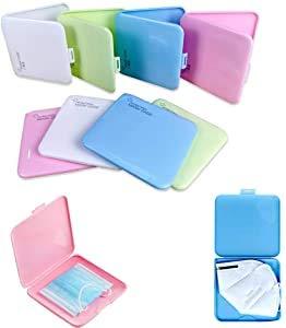 Organizador Caja de Mascarilla de Almacenamiento de Plástico Carpeta Reutilizable, Estuches de Almacenaje de Plástico Portátiles con Tapas, Almacenaje (Pack 4)