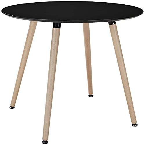 Modway Track 36' Contemporary Modern Round Kitchen and Dining Room Table in Black