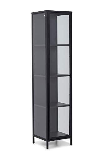 Homexperts Classic 02 Einzelvitrine Links, Metall, schwarz, B 40, H 180, T 40 cm