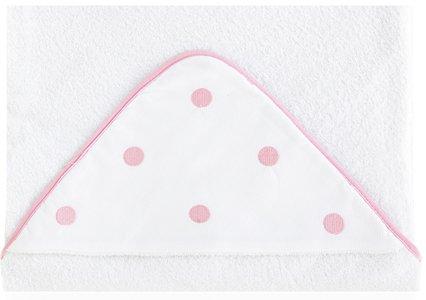 Bimbi Romantic – Maxicapa, 100 x 100 cm, couleur blanc et rose