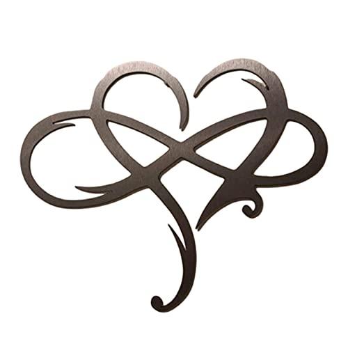 Colgante de pared con forma de corazón, símbolo de infinito para colgar en la pared, diseño de corazón, símbolo de infinito para bodas, regalo familiar para parejas
