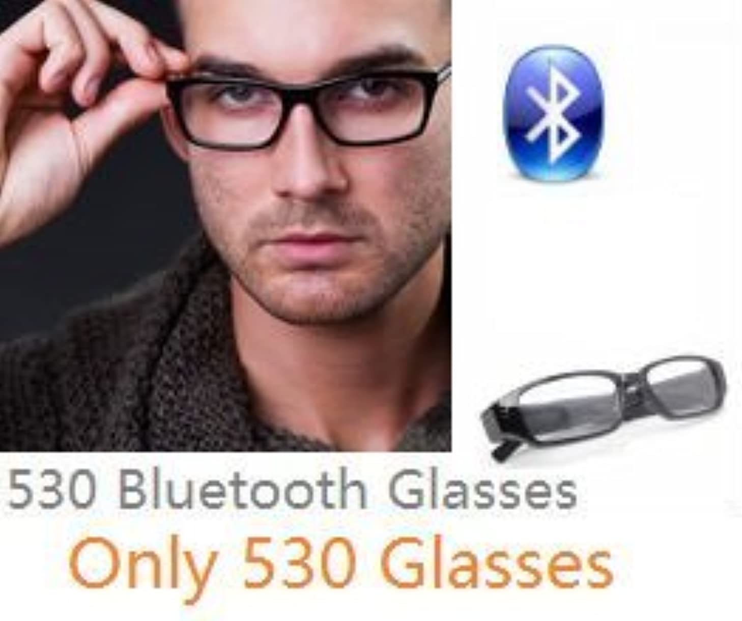EDIMAEG 530 Bluetooth Glasses For mini wireless spy earpiece as A Full Hands free Talking Kit Really Glasses even can change lens (Only Glasses)