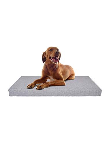 PETLIBRO Hundekissen Kistenschaum Hundematratze 89 * 56 * 7.7 Großes Hundebett Orthopädische Plüschmatratze für Therapeutische Gelenk- & Muskelentlastung Abnehmbare Waschbare Bettdecke Innenfutter