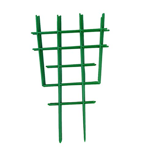 10 Pcs Treillis pour Plantes Grimpantes Plastique Vert Vignes Support Rack Plante en Pot Supports pour La Culture de Tomates Escalade Fruits Légumes Fleurs