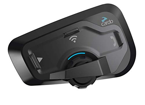 Cardo FREECOM 4 PLUS - 4-Way Motorcycle Bluetooth Communication System With Natural Voice Operation, Sound By JBL (Single Pack)
