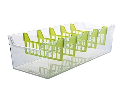 BranQ Küchenorganizer Aufbewahrung Gewürz Box Kiste Küchen Organizer Gewürzbehälter (Transparent)