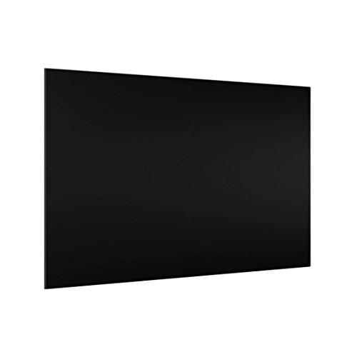 Bilderwelten 59 x 90 cm Glas Küchenrückwand Schwarz Spritzschutz Glasscheibe