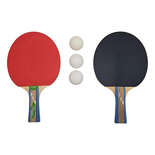 Tunturi Tabletennis Set Ping Pong-Pala y Pelotas, Unisex Adulto, Red, 1