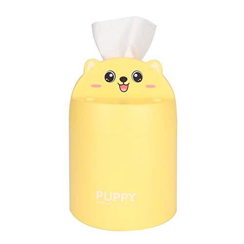 Tissue Roll Paper Holder, süße Mehrzweck-Tissue-Aufbewahrungsbox für Badezimmer Schlafzimmer Büro(Gelb)