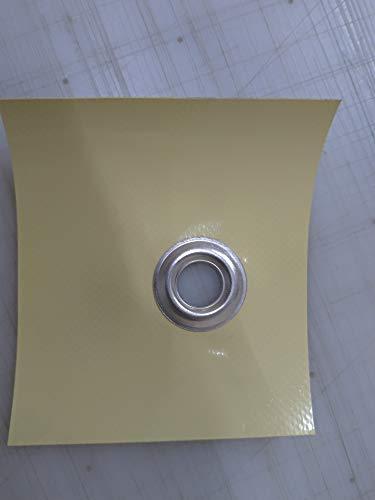 Telo telone occhiellato impermeabile e multiuso SU MISURA AVORIO 650 GRAMMI METRO QUADRO (3 X 6)