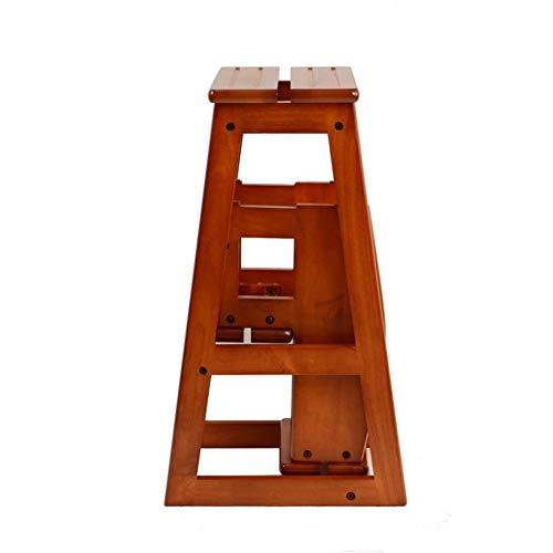 Stair stoel Massief houten laddertje huis ladder Trap Bench krukje Foot kruk Drie verdiepingen stair kruk