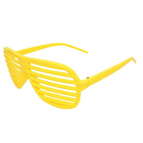 WUDUBE Farben Partybrillen Bunt Gitterbrille Spaß Spass Brille Brillen Party Brille