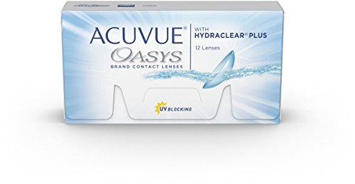 ACUVUE® OASYS with HYDRACLEAR® PLUS - Lentillas quincenales - protección UV - 12 lentes