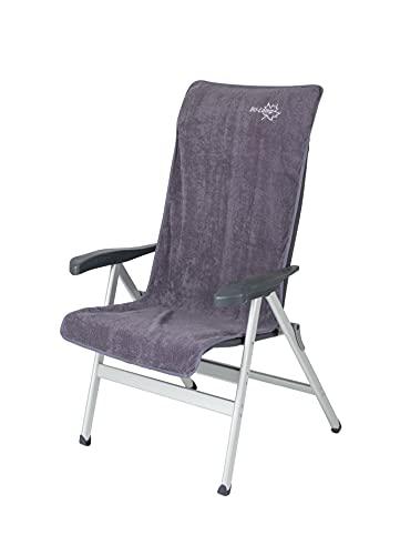 Bo-Camp - Housse de chaise M - Universel - Tissu éponge - Gris