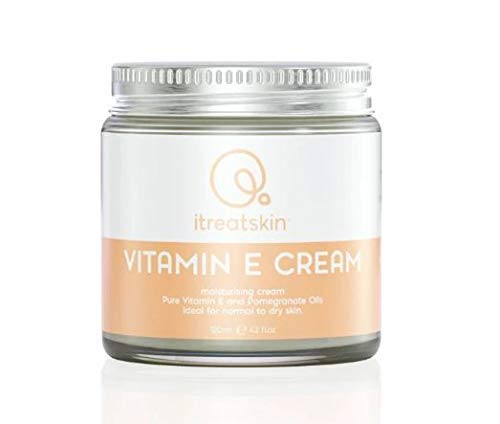 itreatskin Vitamin E Cream - Organic Day and Night Moisturizer, for Dry Skin and Scars | 120 mL