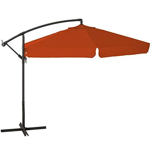 Totò Piccinni Ombrellone SALENTO a Braccio in Metallo e in Poliestere Diametro 3 Metri (Arancione)