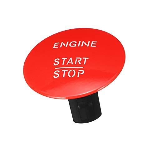 RJJX 1x Motor de Motor Start Stop STEMPH Boton SHUTT Clave FIT para MERÉDES para Benz W164 W205 W212 W213 W164 W221 x204 Plata/Roja (Color : Red)