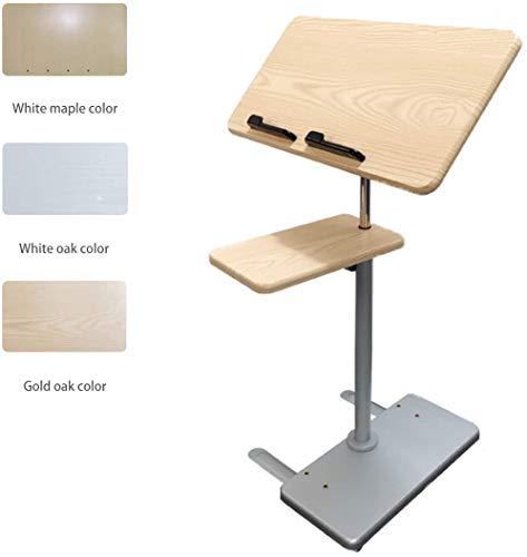 LY88 verstellbare Betttische, tragbarer Sofa/Bett/Laptop-Tabletttisch für Bett oder Stuhl – flacher Rollbett-Schreibtisch – neigbarer Nachttisch für Krankenhaus und Zuhause