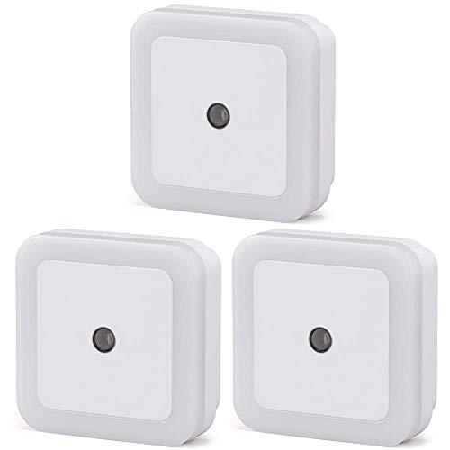 アイリスオーヤマ LEDセンサーライト 3個セット 明暗センサー 足元灯 階段・廊下・寝室など ACプラグ式 工事不要 簡単取付 屋内用 LSLN-AC20IS 昼白色