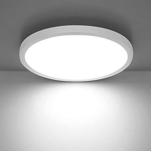 Combuh Deckenleuchte LED 24W 2160LM Slim Deckenlampe für Kinderzimmer, Badezimmer, Küche, Balkon,Flur Kaltweiß 6500K Rund Ø23cm