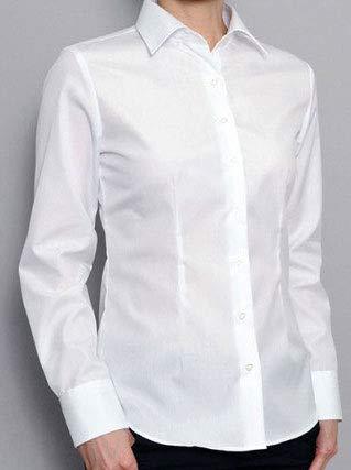 ブラウス An.Shulla カッターシャツ 白 13サイズ(XS〜8XL) ワイシャツ スーツ 長袖 ビジネス (長袖白, L)