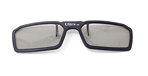Ultra 1 x Black Clip On 3D Glasses Passive 3D Glasses Men Women TVs Cinema Projectors RealdD For Prescription Glass Wearers Circular Polorised Cinema Glasses 3D Glasses for TV Movie Glasses