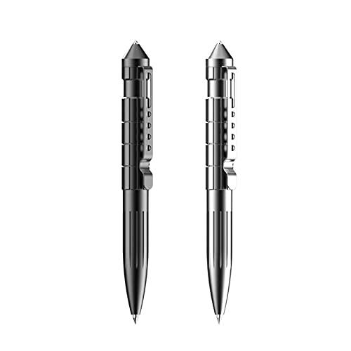 YFAX, penna tattica 2 in 1, penna tattica di autodifesa, strumento di rottura del vetro, penna multifunzione, gadget di sopravvivenza-gray