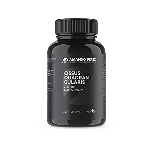 Cissus Quadrangularis Extrakt 2500 mg • 90 Kapseln • Liefert 20{024e668c6b85f2c86251479d10ba9e5962b6322fc66bdb9eec4ce3f21d1f7ef3} Ketosterone • Made in Germany • Natürlich, aktiviert und mikronisiert
