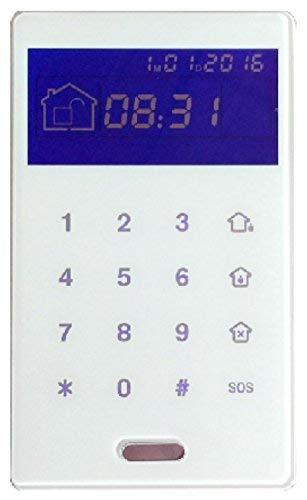 Proxe 551035 toetsenbord draadloos voor centrale alarm, wit
