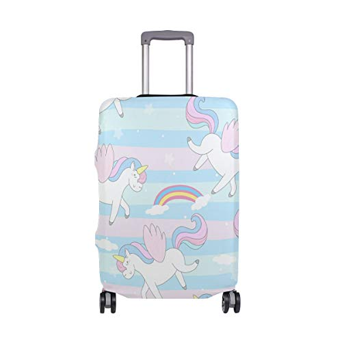 BALII Cute Hand Drawn Unicorn Trolley Case Protective Cover Elastic Luggage Cover Fits 18-32 Inch Luggage