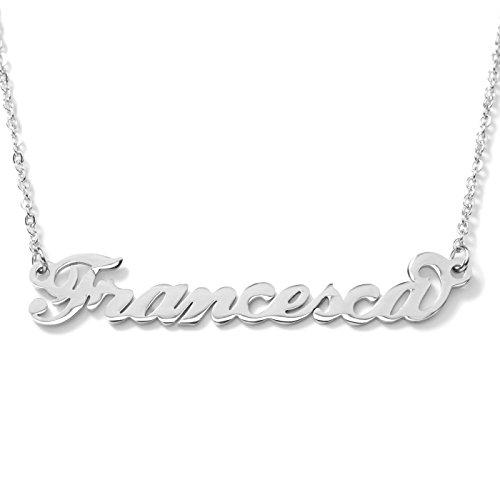 Collana con nome Francesca in acciaio