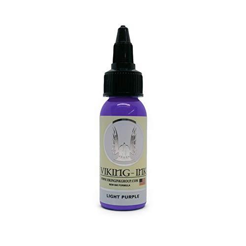 VIKING INK - Encre de Tatouage - LIGHT PURPLE 1oz (30ml) - Les meilleures couleurs et noirs - Vegan