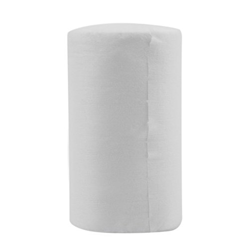 Pañal de Tela Biodegradable desechable para bebé, Forros de bambú, 100 Hojas/Rollo, Blanco