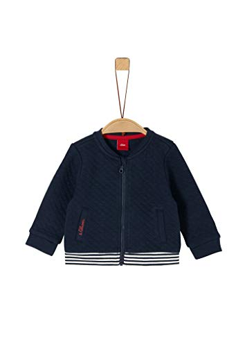 s.Oliver Baby-Jungen 65.911.43.2966 Sweatjacke, Blau (Dark Blue 5952), (Herstellergröße: 86)