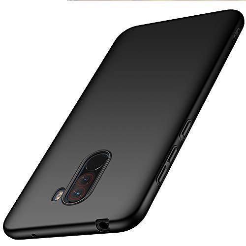 ORNARTO Funda Xiaomi Pocophone F1 6,18',F1 Carcasa [Ultra-Delgado] [Ligera] Mate Anti-arañazos y Antideslizante Protectora Sedoso Caso para Xiaomi Pocophone F1(2018) 6,18 Pulgadas Negro
